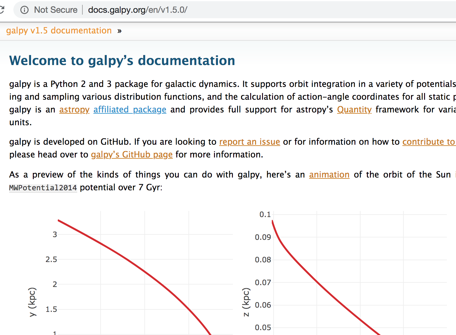 galpy documentation